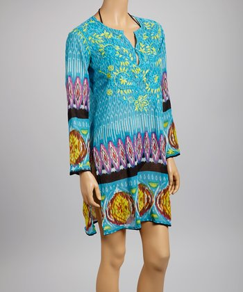 Blue Ikat Tunic - Women