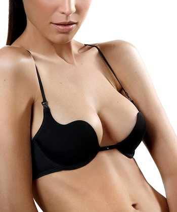 Black U-Shape Push-Up Bra - Women & Plus