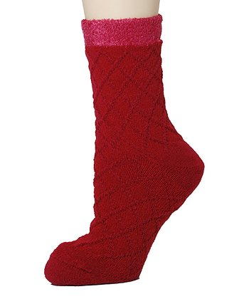 Red Shea Butter Double-Layer Socks