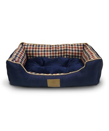 Blue & Red Cuddler Pet Bed