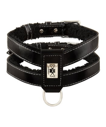 Black Shearling Harness