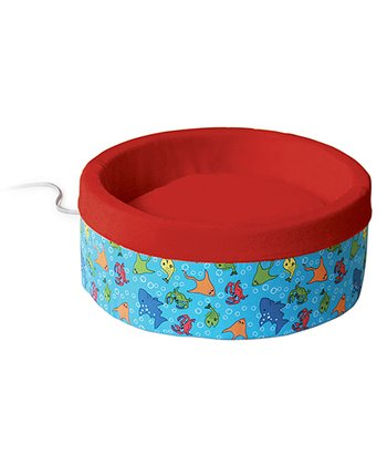 Red & Blue Heated Cat Bed