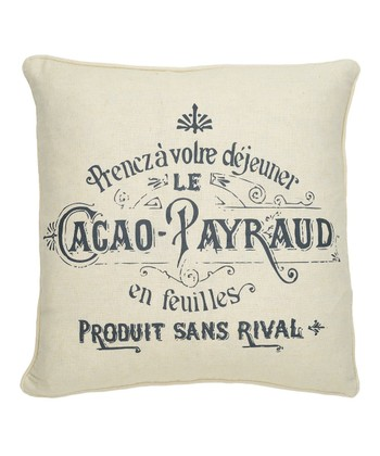 Gray Histoire Throw Pillow