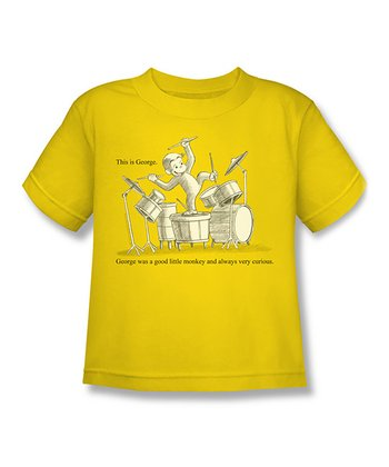 Yellow 'This is George' Book Illustration Tee - Kids