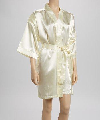 Ivory Charmeuse Robe - Women