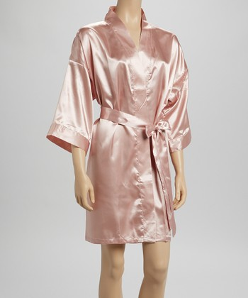 Intimo Rose Charmeuse Robe