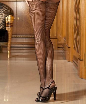 René Rofé Black Fishnet Tights Set - Women