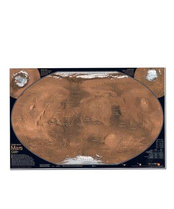 Mars the Red Planet Dual-Sided Laminated Map