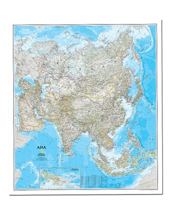 Asia Classic Laminated Map