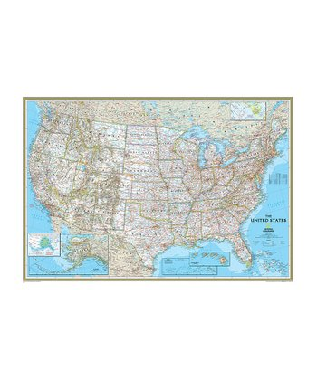 Large United States Classic Laminated Map
