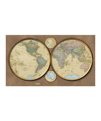 World Hemispheres Laminated Map