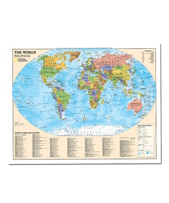 Political World Kids' Laminated Map