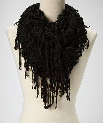 Black Diamond-Weave Infinity Scarf