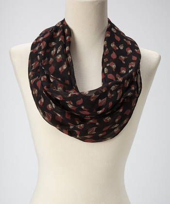 Black Birds Infinity Scarf