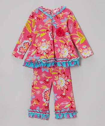 Fuchsia Floral Swing Tunic & Pants - Infant, Toddler & Girls