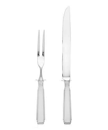 Stainless Steel Art Deco Carving Set