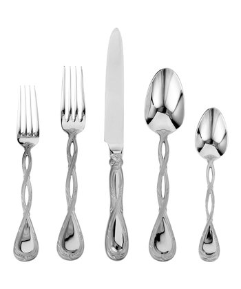 Stainless Steel Regale Satin 45-Piece Flatware Set