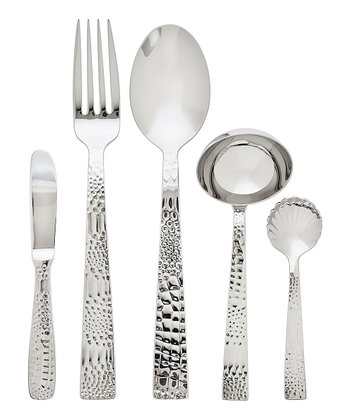 Stainless Steel Crocodile Five-Piece Place Set