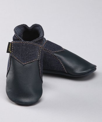 Denim Blue Leather Bootie