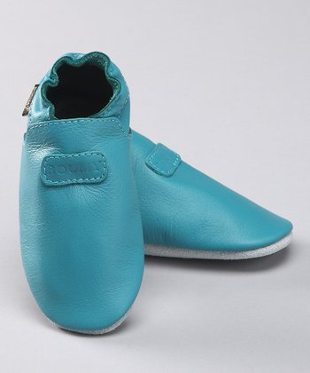 Turquoise Leather Bootie