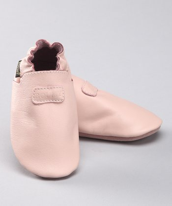 Light Pink Leather Booties