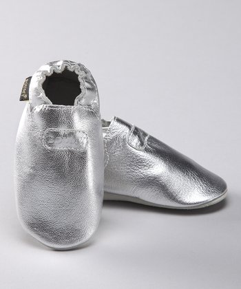 Silver Leather Booties