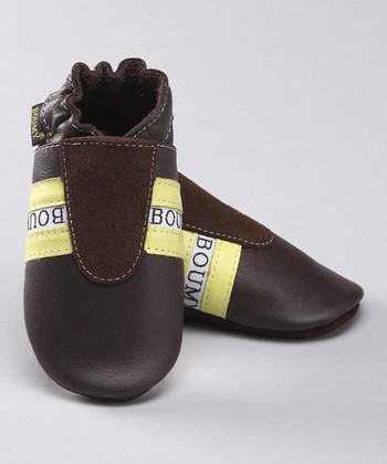 Brown Leather Track Bootie
