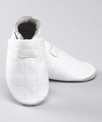 White Carre Leather Bootie