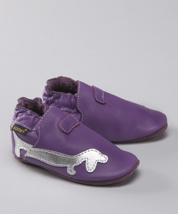 Purple Govert Leather Bootie