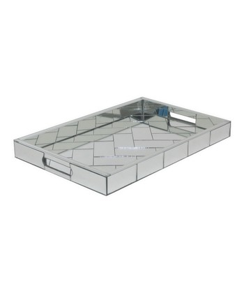 Rectangle Glass Mirrored Tray