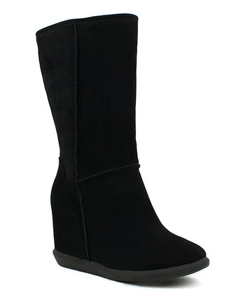 Black Tom Wedge Boot