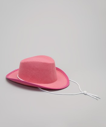 Pink Felt Cowgirl Hat