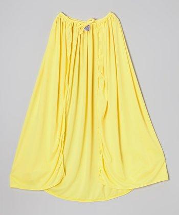 Yellow Knit Cape