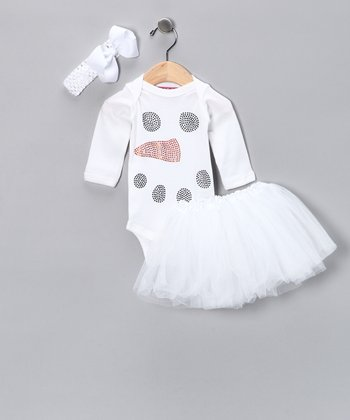 White Snowman Tutu Set - Infant