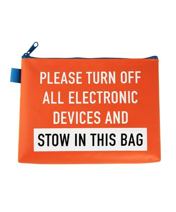 Orange 'Stow in This Bag' Pouch