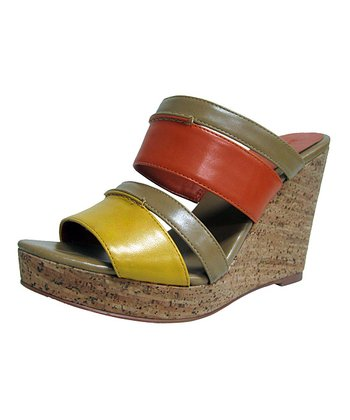 Orange & Yellow Jaunt Wedge