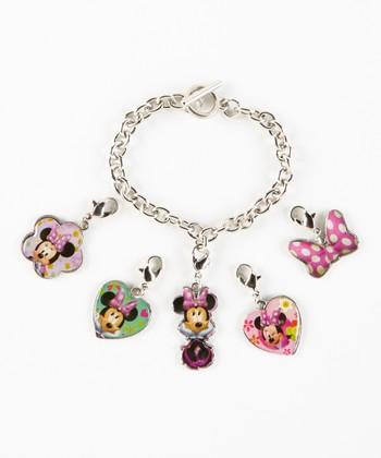 Minnie Mouse Bracelet & Charms Set