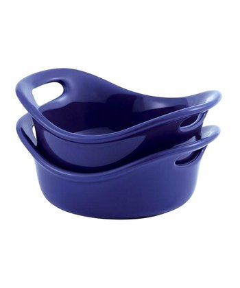 Blue 12-Oz. Round Baking Dish - Set of Two