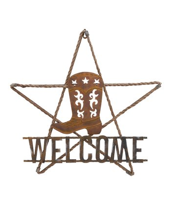 Cowboy Boot 'Welcome' Sign