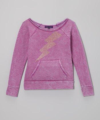 Purple Pixies Orchid Lightning Bolt Sweatshirt