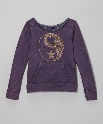 Purple Pixies Navy Yin & Yang Sweatshirt