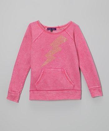 Purple Pixies Pink Lightning Bolt Sweatshirt
