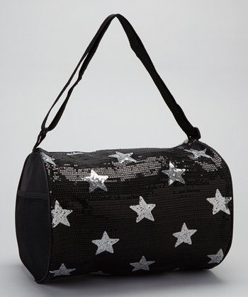 Black Star Sequin Duffel Bag