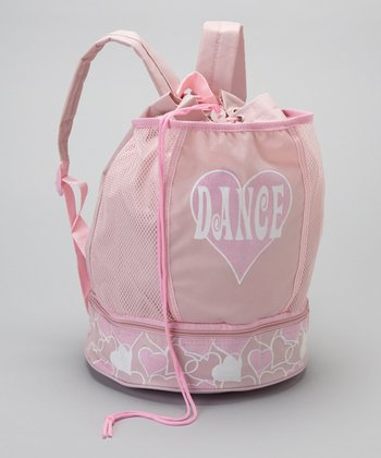 Pink Heart 'Dance' Backpack