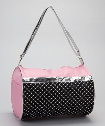Pink & Black Sequin Duffel Bag