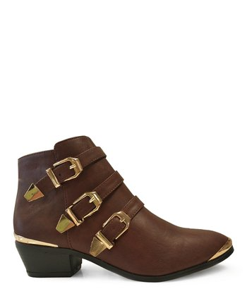Brown Party Ankle Boot