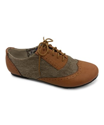 Tan Texture Nikki Oxford