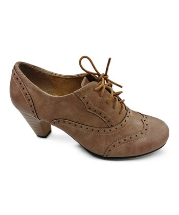 Taupe Amany Oxford Pump