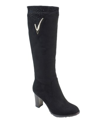 Black Embellished Boot