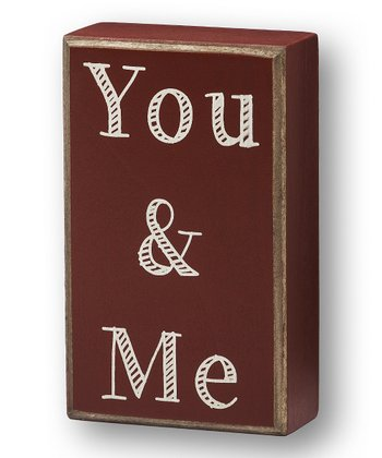 'You & Me' Box Sign